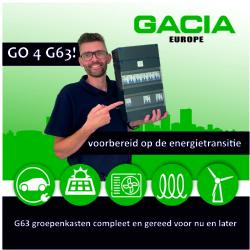 De Gacia G63 groepenkast is voorbereid op de energietransitie