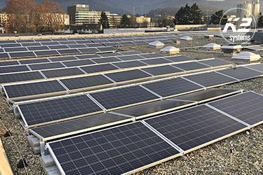 Voorgemonteerd, eenvoudig en snel te installeren Dome 6 voor platte daken