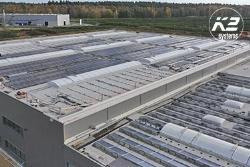 Bevestigingssystemen Dome 6 met lange rails, bijzonder efficiënt voor grote projecten