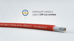 Topsolar® H1Z2Z2-K, de hoogste solar CPR certificering: Cca-s1b,d2,a1