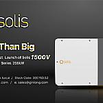 Meer dan groot, Ginlong Solis lanceert 1500V 255k stringomvormer met het grootste vermogen