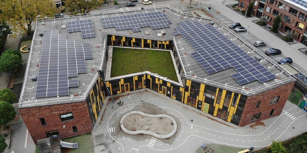 Meeste schooldaken nog zonder zonnepanelen